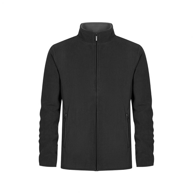 Doppel Fleece Zip Jacke Plus Size Herren
