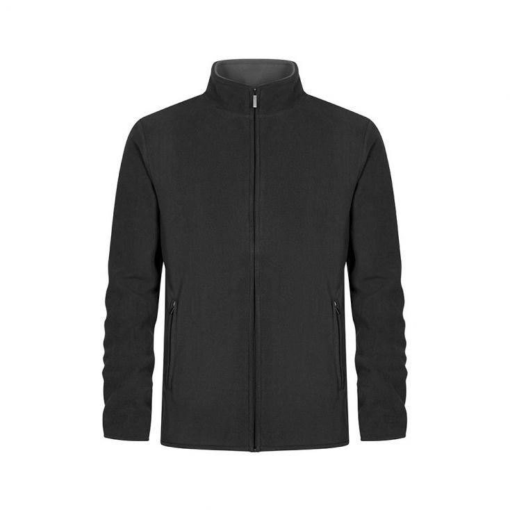 Double Fleece Zip Jacket Plus Size Men