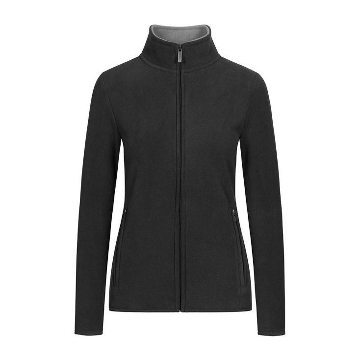 Doppel Fleece Zip Jacke Plus Size Damen