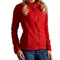Picture of a red promodoro fleece jacket for women