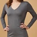 Abbildung von einem grauen Langarmshirt für Frauen der neuen Marke X.O. by promodoro