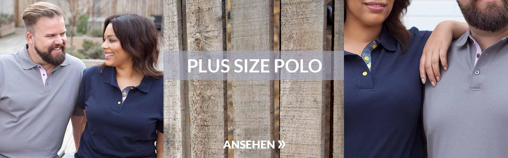 Poloshirts in Übergrößen
