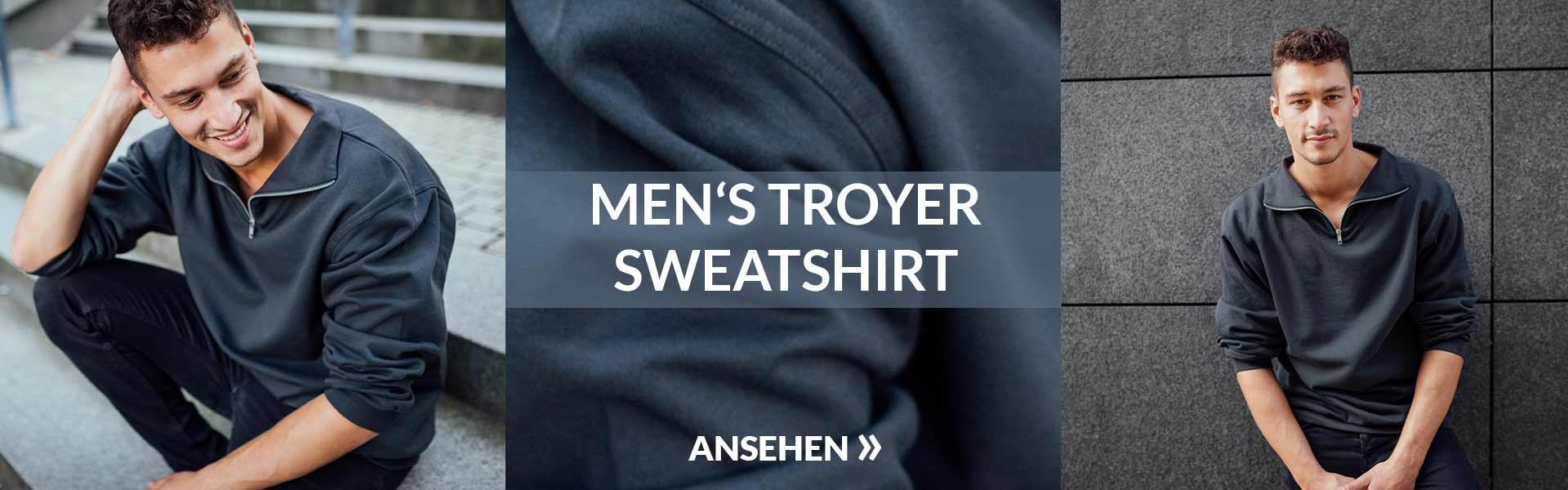 Herren Troyer Sweatshirt