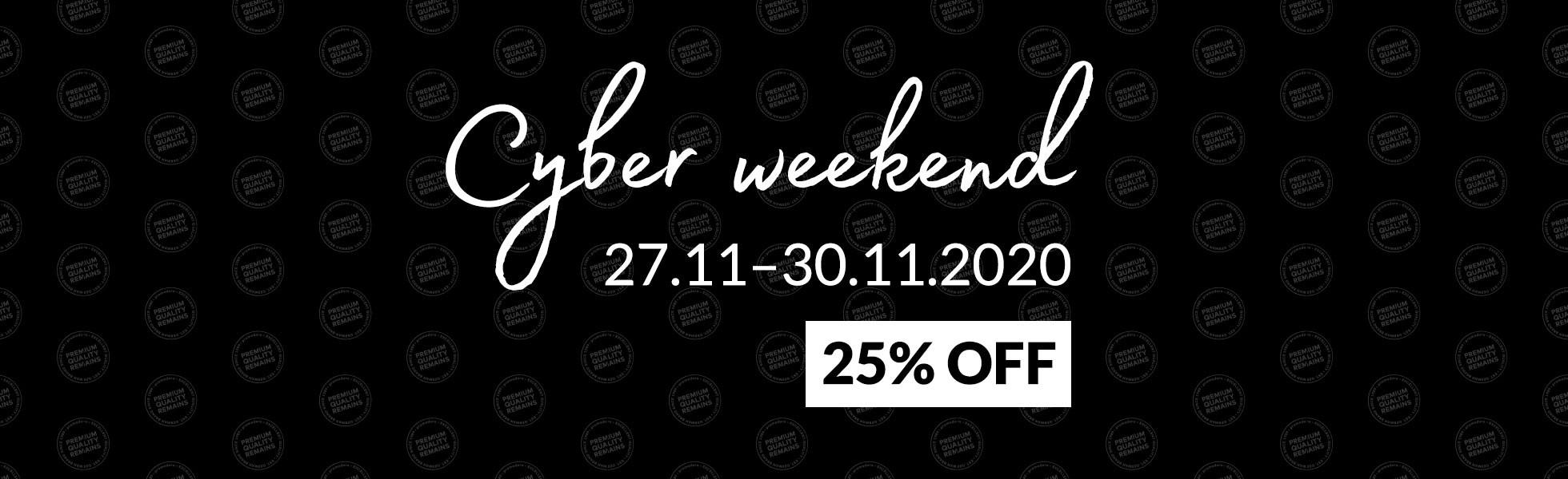 Cyberweekend - 25% discount